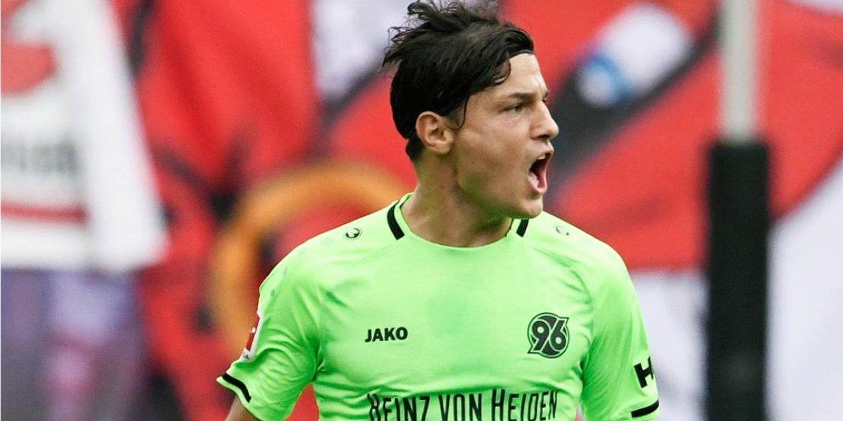 Miiko Albornoz deja atrás su mala presentación con la Roja anotando un golazo por el Hannover 96
