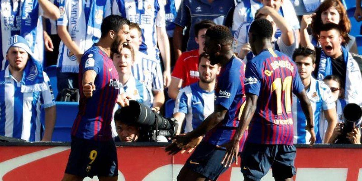 El Barcelona remonta y deja en total silencio el Anoeta