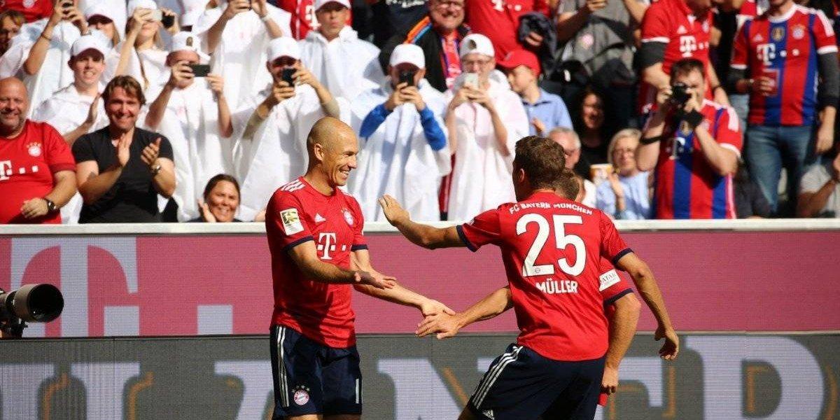 VIDEO: Espectacular golazo de Robben le da la victoria al Bayern Múnich
