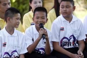 Niños rescatados Tailandia