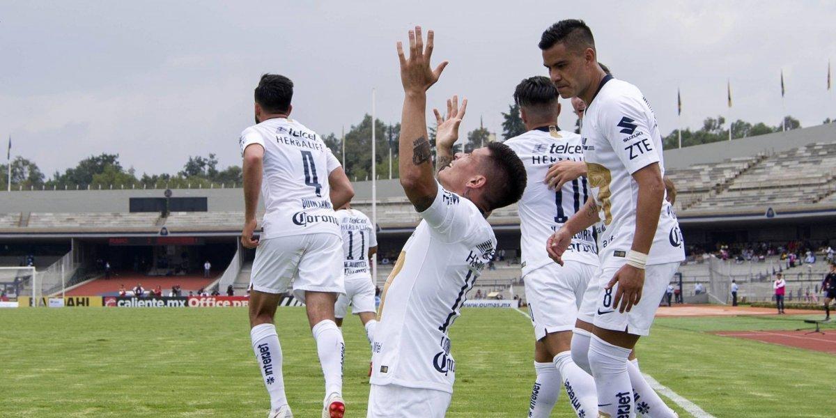 Lluvia de goles en la victoria de Pumas sobre Lobos BUAP