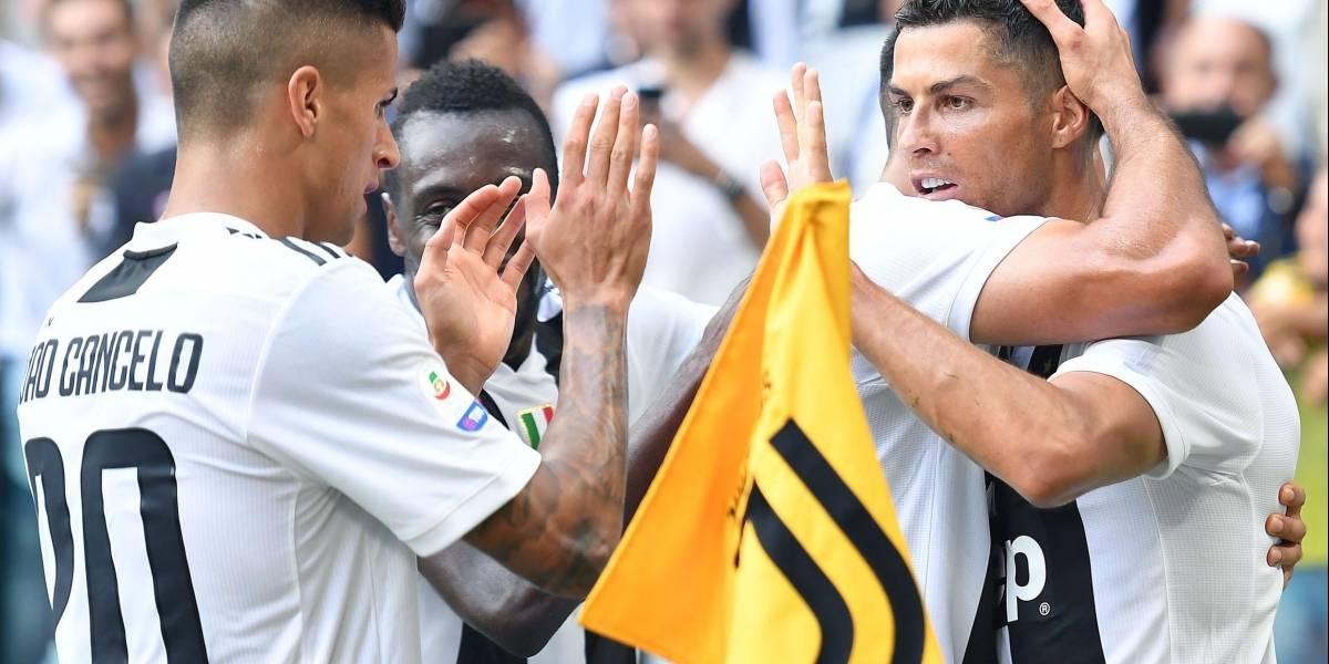 Cristiano Ronaldo firma un doblete y mantiene a la Juventus con el pleno de puntos