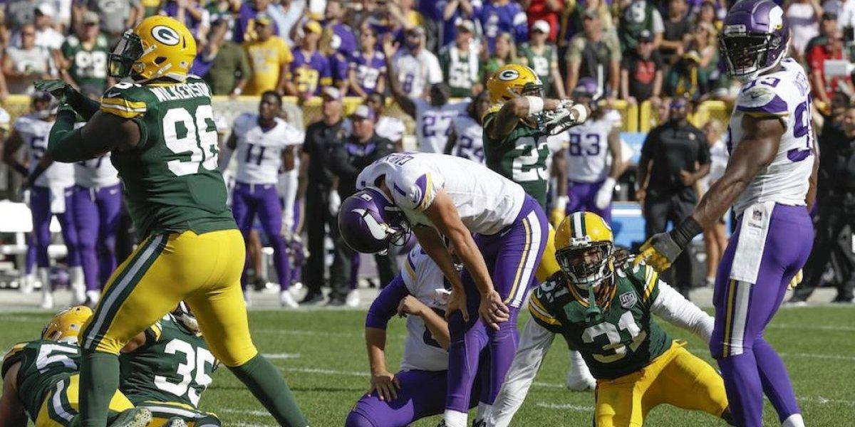 Los Vikings dejan escapar el triunfo ante los Packers en tiempo extra