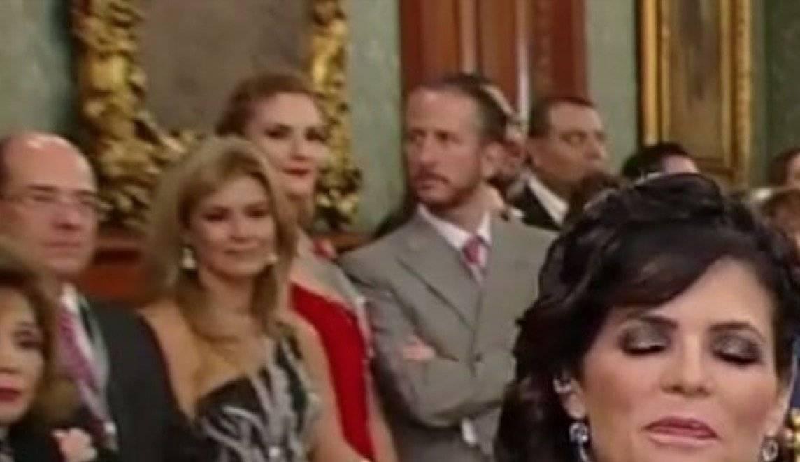 Chantal Andere y su esposo Enrique Rivero asistieron a Palacio Nacional Instagram