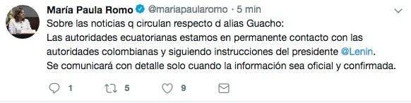tuit María Paula Romo
