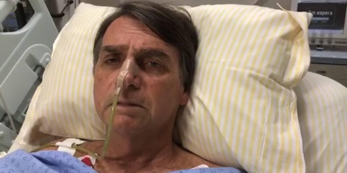 Em transmissão ao vivo em rede social, Jair Bolsonaro faz primeiro pronunciamento após ataque