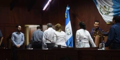 Conferencia de prensa en Corte de Constitucionalidad