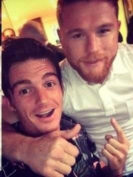 El cantante y el boxeador se conocieron en 2017 Instagram