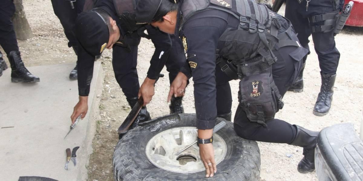 Capturado en Petén por ocultar mariguana en llanta