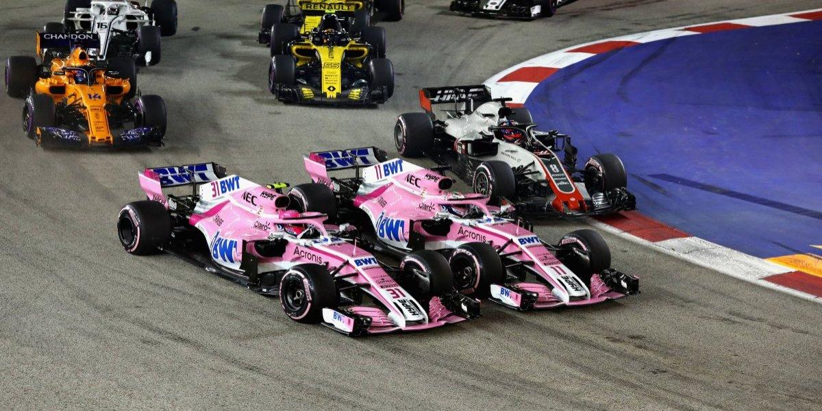 VIDEO: 'Checo' Pérez y Esteban Ocon protagonizan choque en el GP de Singapur