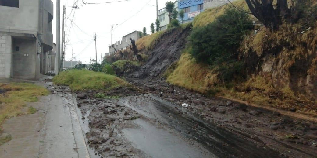 Deslizamiento de tierra en Quito