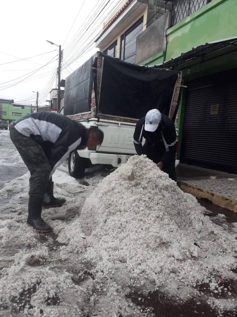 Granizo en Quito