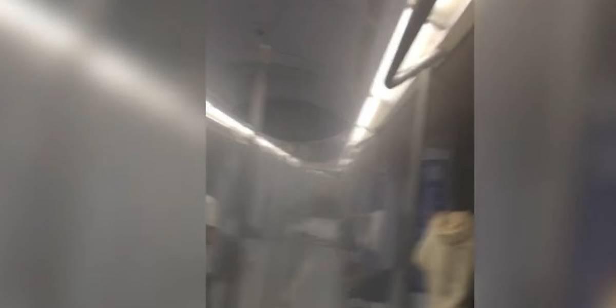Un tren del Metro de Madrid, evacuado por la explosión de un ordenador portátil