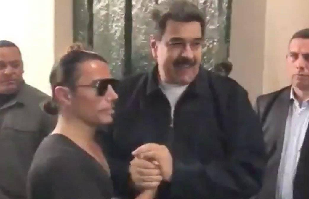 Video de Nicolás Maduro comiendo en exclusivo restaurante con el chef Salt Bae Captura de pantalla