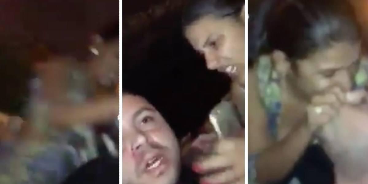 Hombre publica video en el que su pareja lo golpea fuertemente