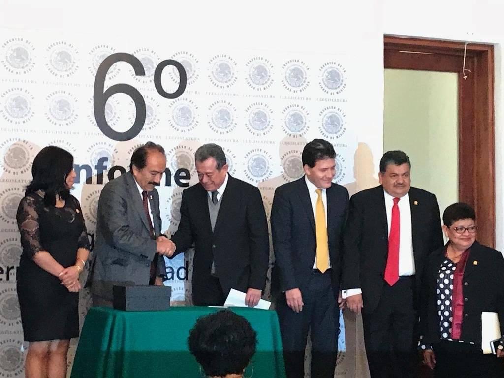 El informe fue entregado por escrito por el secretario de Gobierno, Guillermo Orozco. Cortesía