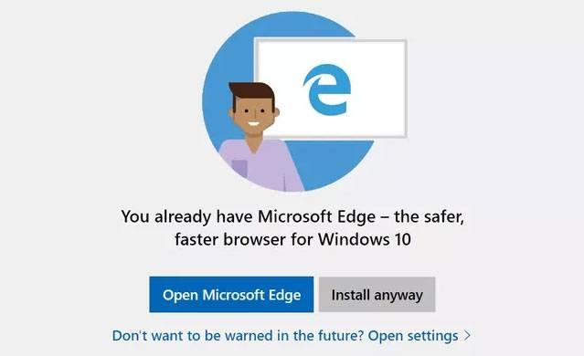 Microsoft deja de asustarte cuando intentas instalar Chrome o Firefox