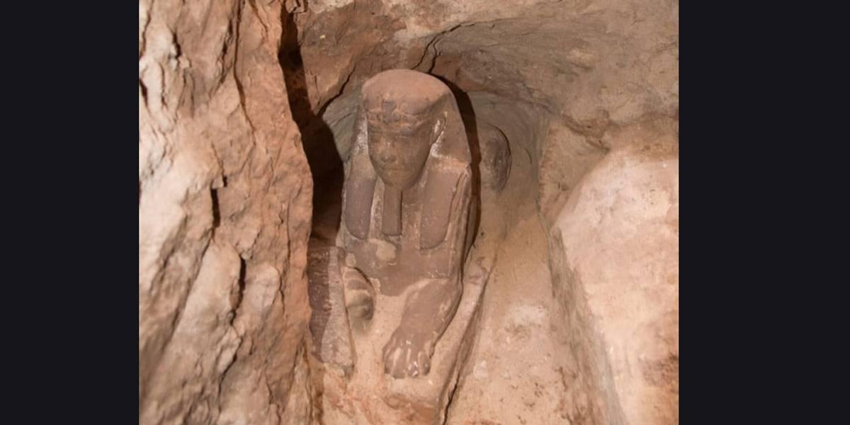 Esfinge descoberta no Egito remonta ao período de 305 e 30 a.C
