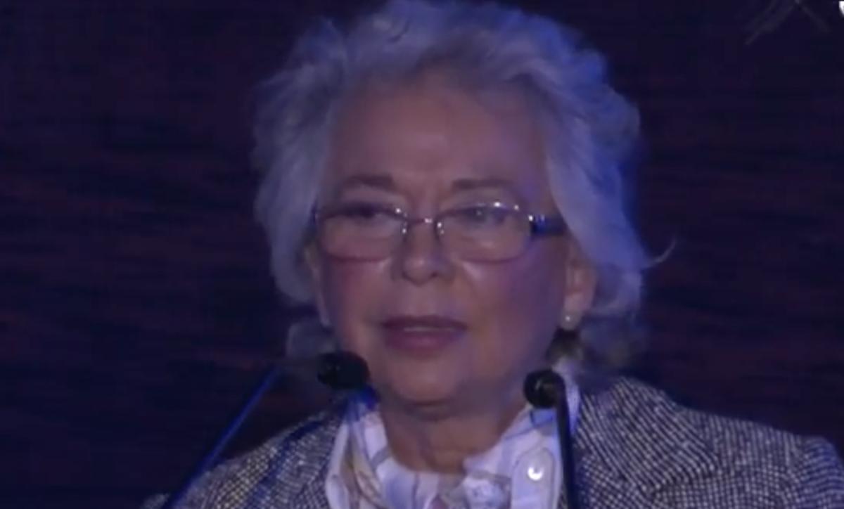 """La ex ministra de la Corte, Olga Sánchez Cordero participó en el Foro Forbes 2018 """"Camino a la Transición"""" Captura de pantalla"""