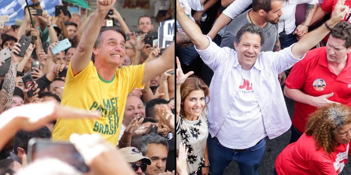 Bolsonaro lidera pesquisa CNT/MDA; Haddad é segundo