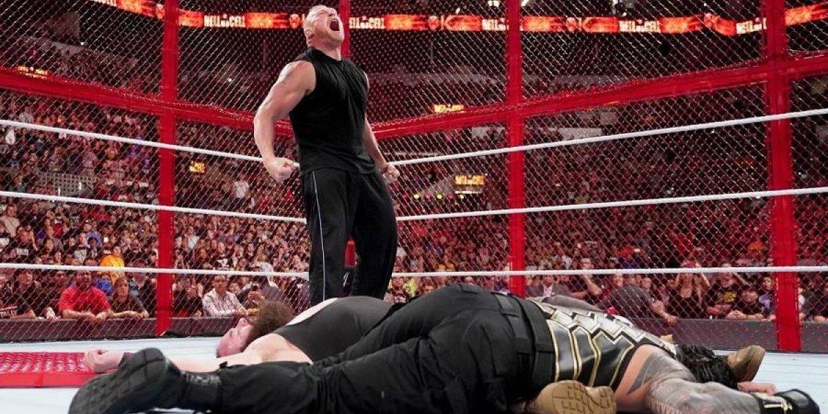 Brock Lesnar volvió a WWE arrasando con todo en Hell in a Cell y frustrando el duelo Reigns-Strowman