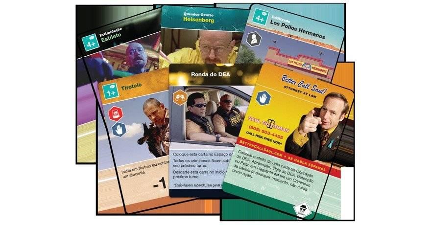 Com as cartas é possível fazer tiroteios, trair aliados ou conseguir uma temporada na reabilitação