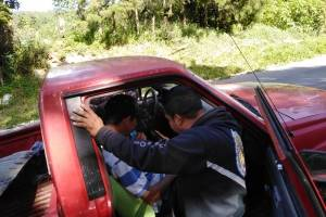 accidente de microbús en Santa Rosa