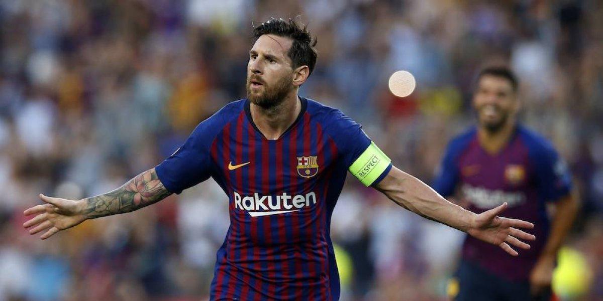 Messi le da la bienvenida a la Champions al Chucky y al Guti