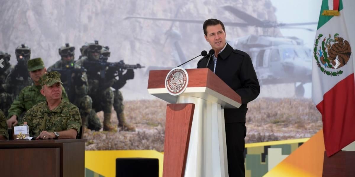 Este ha sido el sexenio del fortalecimiento a las Fuerzas Armadas: Peña Nieto