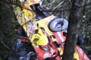 ACTUALIZACIÓN: Al menos 12 fallecidos tras vuelco de bus en la vía Balsas-Machala