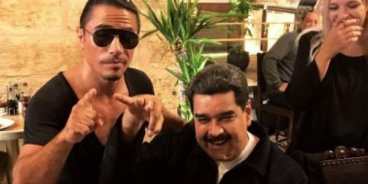 """Convocan a protestar tras lujoso banquete de Maduro en restaurante de""""Salt Bae"""""""