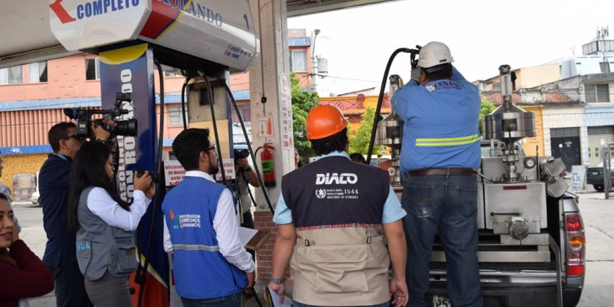 Detectan a gasolinera que no despachaba cabal el diésel
