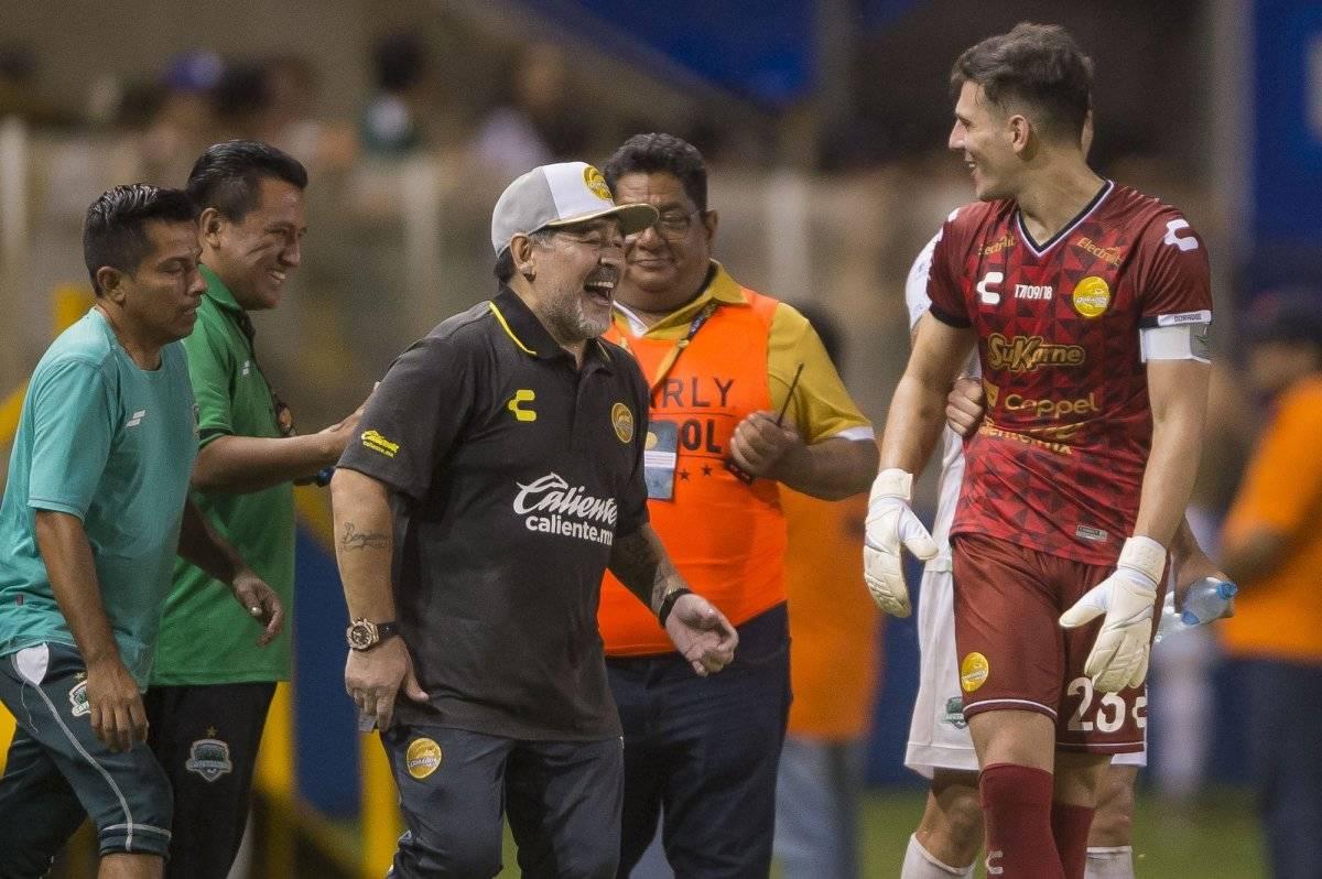 Diego no pudo contener la emoción por su primer partido en MéxICo |MEXSPORT