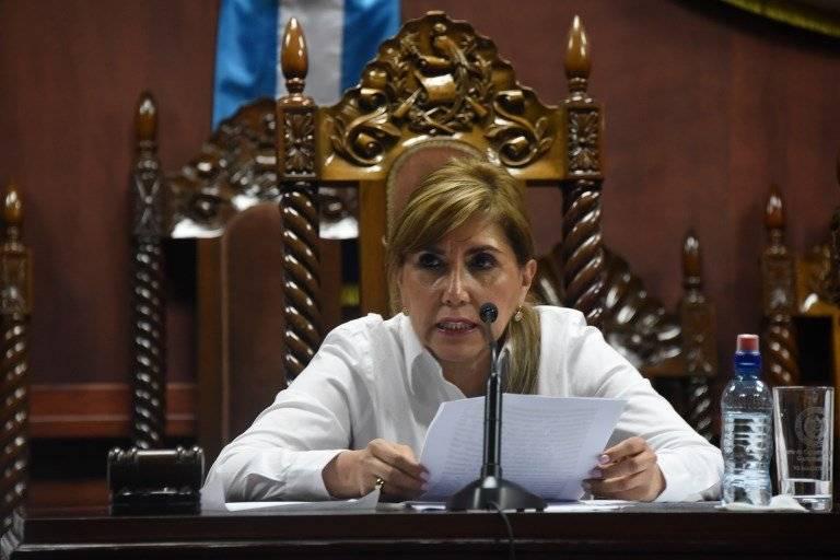 Dina Ochoa es la presidenta de la Corte de Constitucionalidad. Foto: AFP