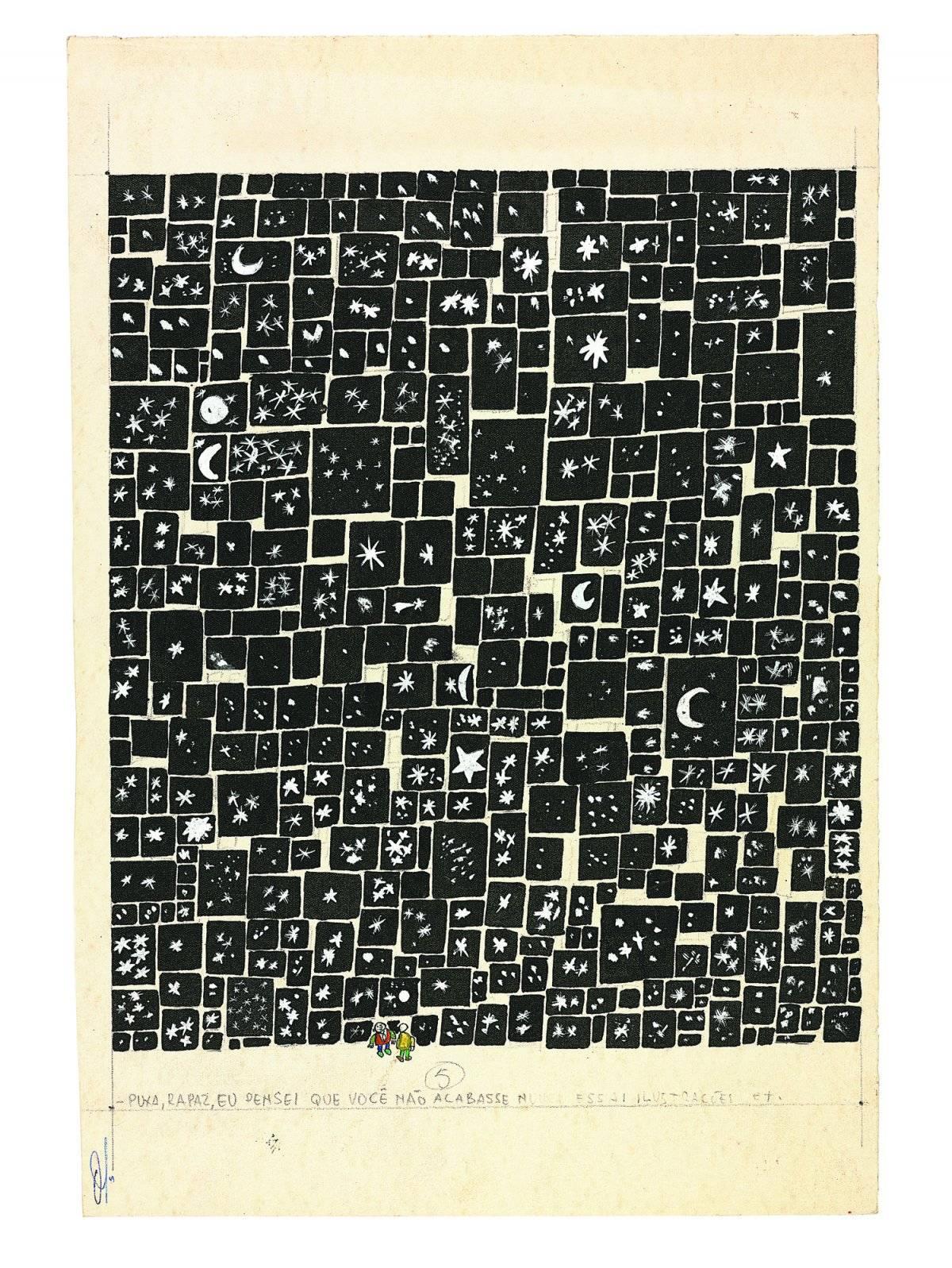 Ilustrador das mil e uma noites, 1961 Acervo Millôr Fernandes / Instituto Moreira Salles