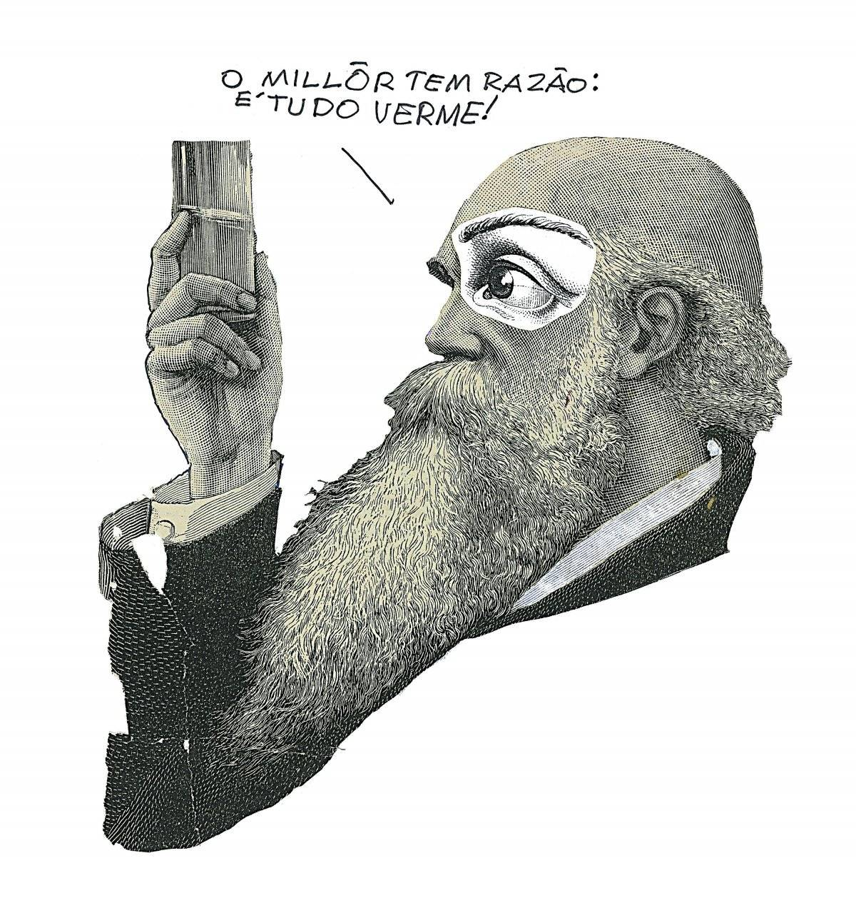 Desenho, 1992 Acervo Millôr Fernandes / Instituto Moreira Salles