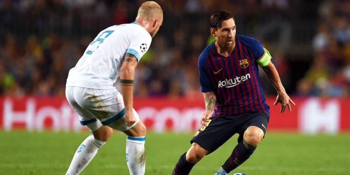 Con Vidal entrando al final, Barcelona goleó con triplete de Messi al PSV en la Champions League