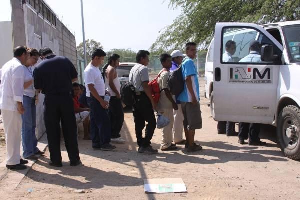 migrantes interceptados en México