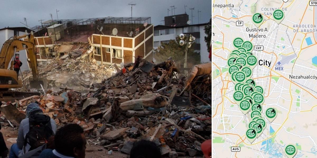 MAPA: Edificios colapsados a un año del sismo del 19S