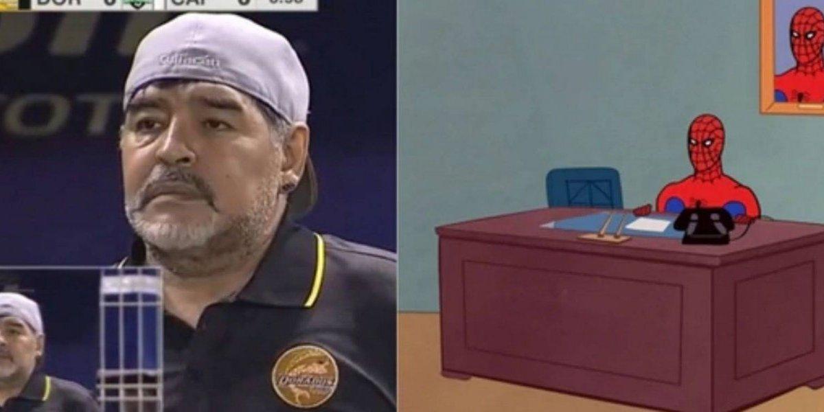 Con memes dan la bienvenida en México a Diego Maradona