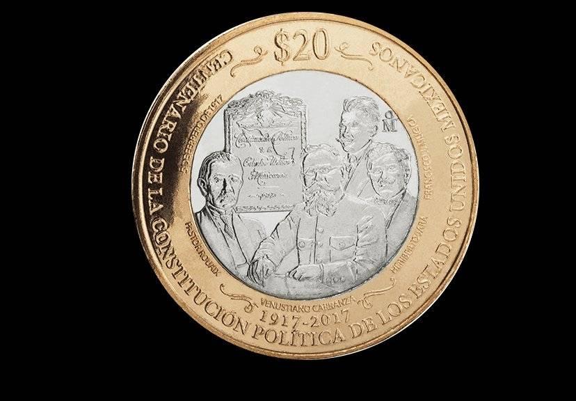 Moneda de 20 pesos, conmemorativa del Centenario de la Promulgación Política de los Estados Unidos Mexicanos / banxico.org.mx