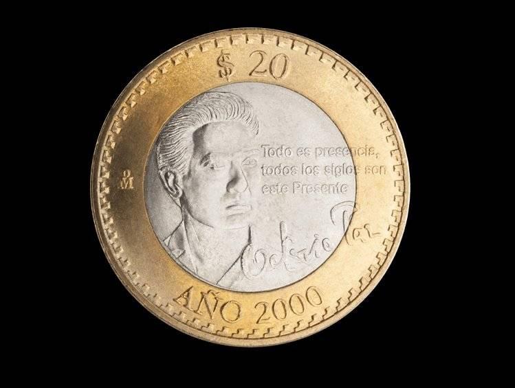 Moneda de 20 pesos, conmemorativa de la Llegada del Año 2000 e Inicio del Tercer Milenio / banxico.org.mx