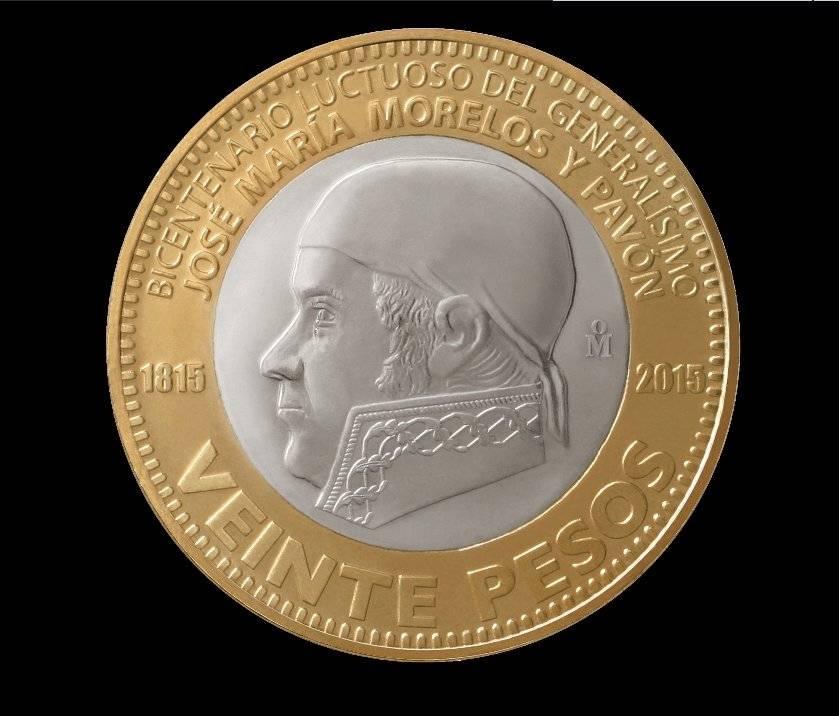 Moneda de 20 pesos, conmemorativa del Bicentenario Luctuoso del Generalísimo José María Morelos y Pavón / banxico.org.mx
