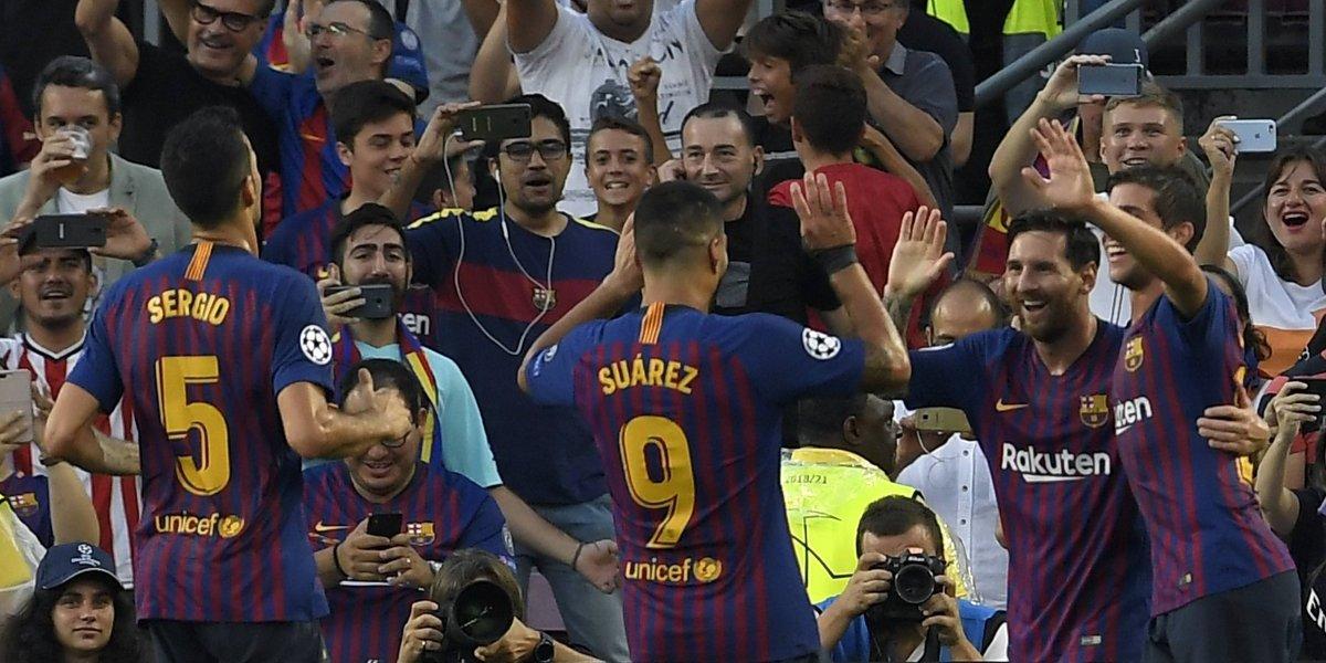 Messi guía al Barcelona a un gran inicio en la Champions con una goleada al PSV