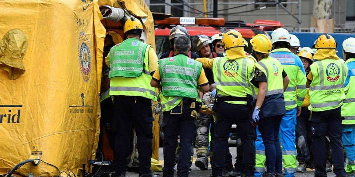 Al menos un muerto y 9 heridos en el derrumbe del hotel Ritz de Madrid