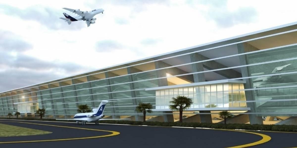 Imagen de la terminal del Aeropuerto Internacional de Santa Lucía realizada por Grupo Riboó Foto: Grupo Rioboó