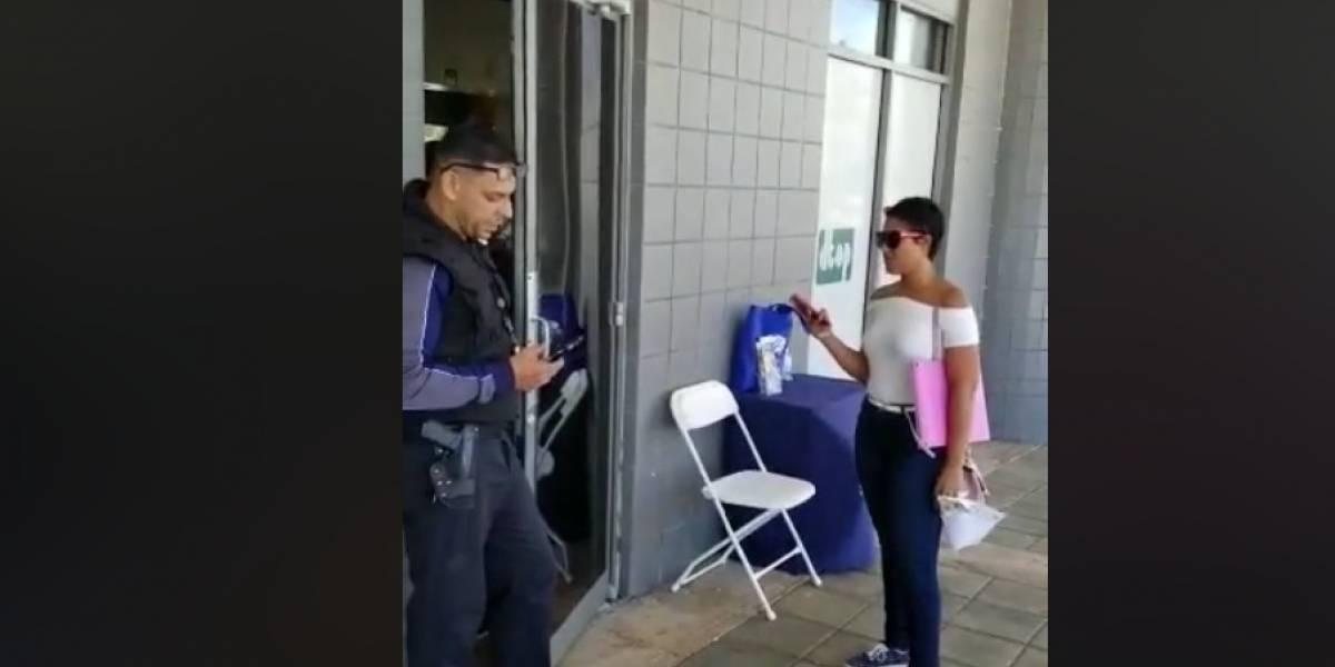 Graban disputa entre ciudadana y guardia de seguridad en oficina de CESCO