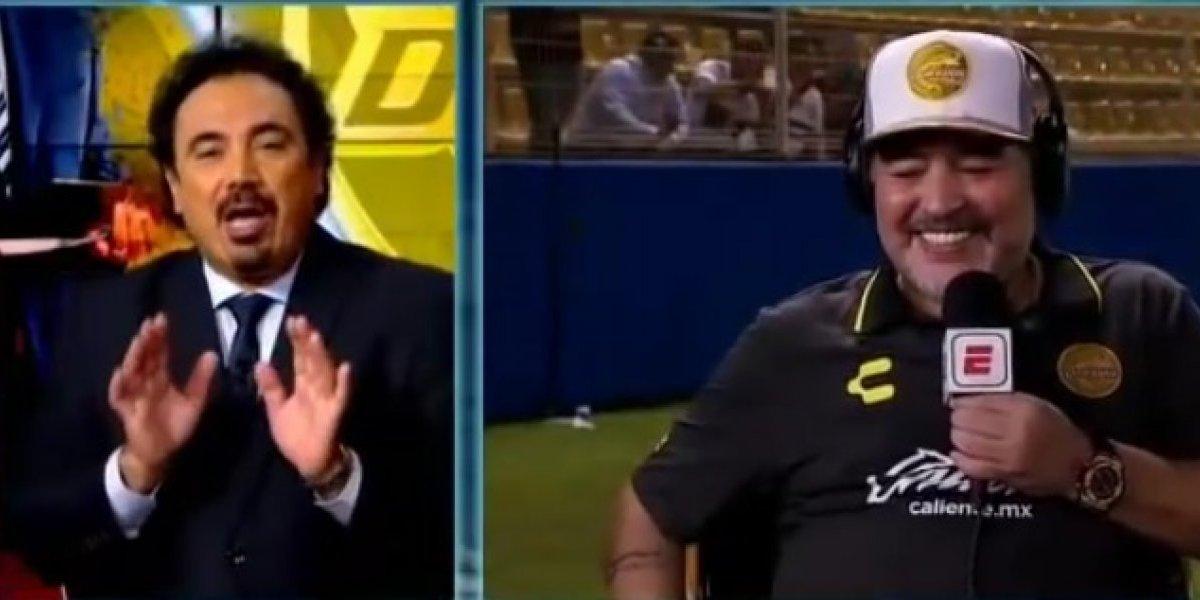 Maradona alaba los goles de Hugo Sánchez por encima de los de CR7