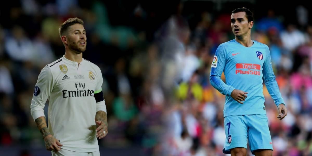 """Sergio Ramos llama """"ignorante"""" a Antoine Griezmann"""