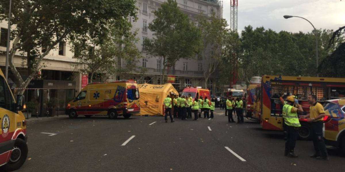 VIDEO. Derrumbe en hotel de Madrid deja un muerto y varios heridos
